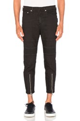 Neil Barrett Skinny Leg Biker Jeans In Black