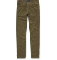 Acne Studios Ace Slim Fit Stretch Cotton Corduroy Jeans Army Green