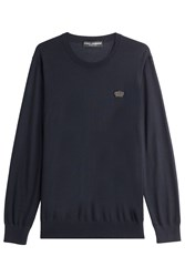 Dolce And Gabbana Cashmere Pullover Blue