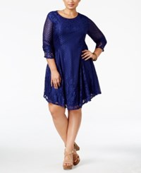 American Rag Trendy Plus Size Lace Up Lace Dress Only At Macy's Blueprint