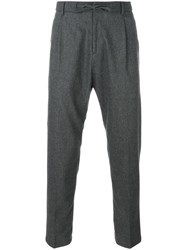 Paolo Pecora Tapered Trousers Grey
