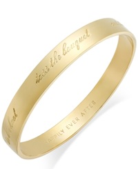 Kate Spade New York Gold Tone 'Happily Ever After' Bridal Idiom Bangle Bracelet