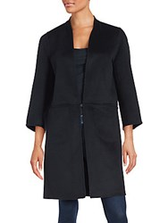 Zac Posen Long Sleeve Wool Blend Coat Black