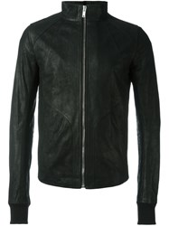 Rick Owens High Collar Jacket Black