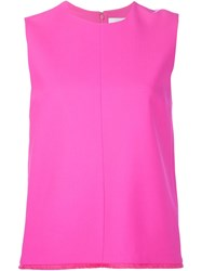 Victoria Victoria Beckham Round Neck Tank Top Pink And Purple