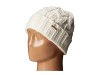 Michael Michael Kors Cable Knit Hat With Fold Up Cuff Cream Knit Hats Beige