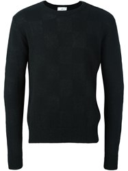 Ami Alexandre Mattiussi Checked Pattern Jumper Black