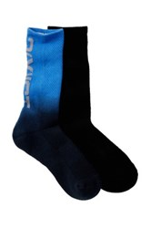 2Xist Dip Dye Sport 1 2 Terry Crew Socks Pack Of 2 Black