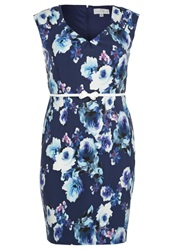 Paper Dolls Curvy Cocktail Dress Party Dress Navy Multi Blue