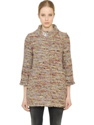 Blugirl Embellished Wool Blend Boucle Coat