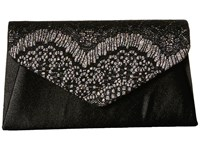 Jessica Mcclintock Lily Small Lace Envelope Clutch Black Multi Clutch Handbags