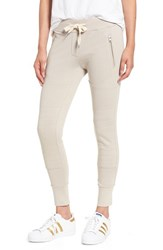 Sincerely Jules Women's 'Lux' Skinny Cotton Jogger Pants Grey