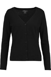 Majestic Cotton And Cashmere Blend Cardigan Black