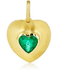 Irene Neuwirth Diamond Collection Women's Emerald And Yellow Gold Heart Pendant Gold