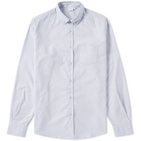 Sunspel Button Down Oxford Shirt Grey