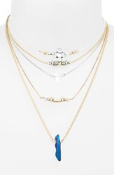 Topshop Women's Beaded Chain Necklaces Set Of 5