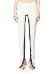 Cedric Charlier Inverse Stripe Trousers White Black