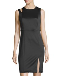 Carmen Carmen Marc Valvo Sleeveless A Line Scuba Dress Black
