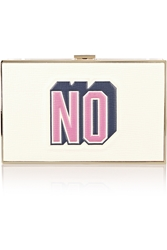 Anya Hindmarch Imperial Embossed Textured Leather Box Clutch