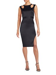 Abs By Allen Schwartz Cutout Satin Dress Black