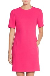 Eliza J Petite Women's Seamed Crepe Shift Dress Pink