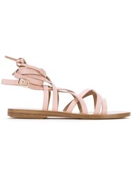 Scanlan Theodore Gladiator Sandals Pink And Purple