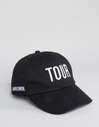 Reclaimed Vintage Tour Baseball Cap Black