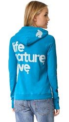 Freecity Life Nature Love Pullover Hoodie Blue Machine