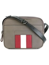 Bally Zipped Shoulder Bag Grey