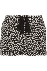 Equipment Lilian Printed Washed Silk Pajama Shorts Black
