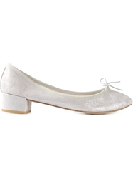 Repetto Block Heel Ballerina Pumps Grey