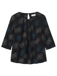 Toast Dotted Floral Top Black