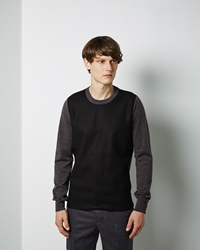 Maison Martin Margiela Line 10 Wool Combo Pullover Light Grey Dark Grey