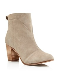 Toms Lunata Suede Booties Taupe