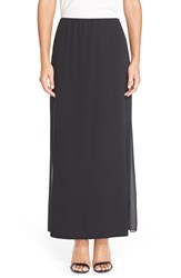 Alex Evenings Layered Column Maxi Skirt Petite Black