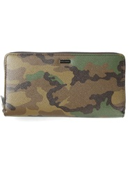 Dolce And Gabbana Camouflage Wallet Brown