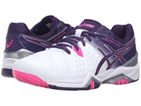 Asics Gel Resolution 6 White Parachute Purple Hot Pink Women's Tennis Shoes