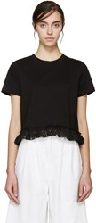 Edit Black Lace Trim T Shirt