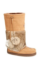 Women's Manitobah Mukluks 'Snowy Owl' Genuine Fur And Suede Mukluk Oak