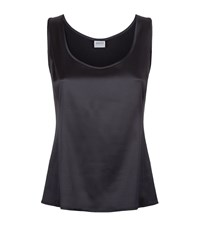 Armani Collezioni Sleeveless Satin Top Female Dark Grey
