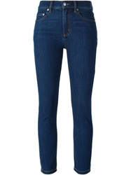 Marc By Marc Jacobs Cropped Skinny Fit Jeans Blue