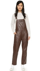 Ganni Passion Dungaree Overalls Potting Soil