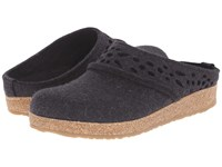 Haflinger Lacey Charcoal Women's Slippers Gray