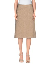 Just In Case Skirts Knee Length Skirts Women Sand