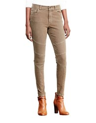 Lauren Ralph Lauren Stretch Skinny Moto Jeans Brown