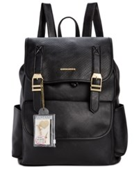 Rampage Customizable Perforated Flap Backpack With Pins Only At Macy's Black