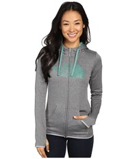 The North Face Fave Half Dome Full Zip Hoodie Tnf Medium Grey Heather Deep Sea Women's Sweatshirt Gray