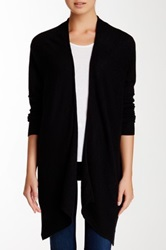 14Th And Union Handkerchief Hem Cashmere Cardigan Black
