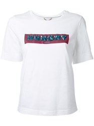 Muveil Hungry Sequin T Shirt White