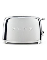 Smeg Two Slice Wide Slot Toaster Silver